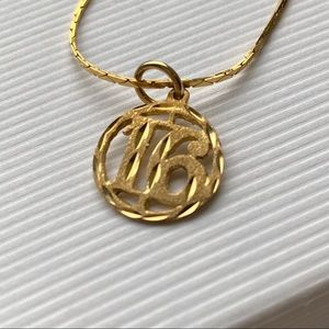 Sweet 16 10kt Gold Pendant with Chain